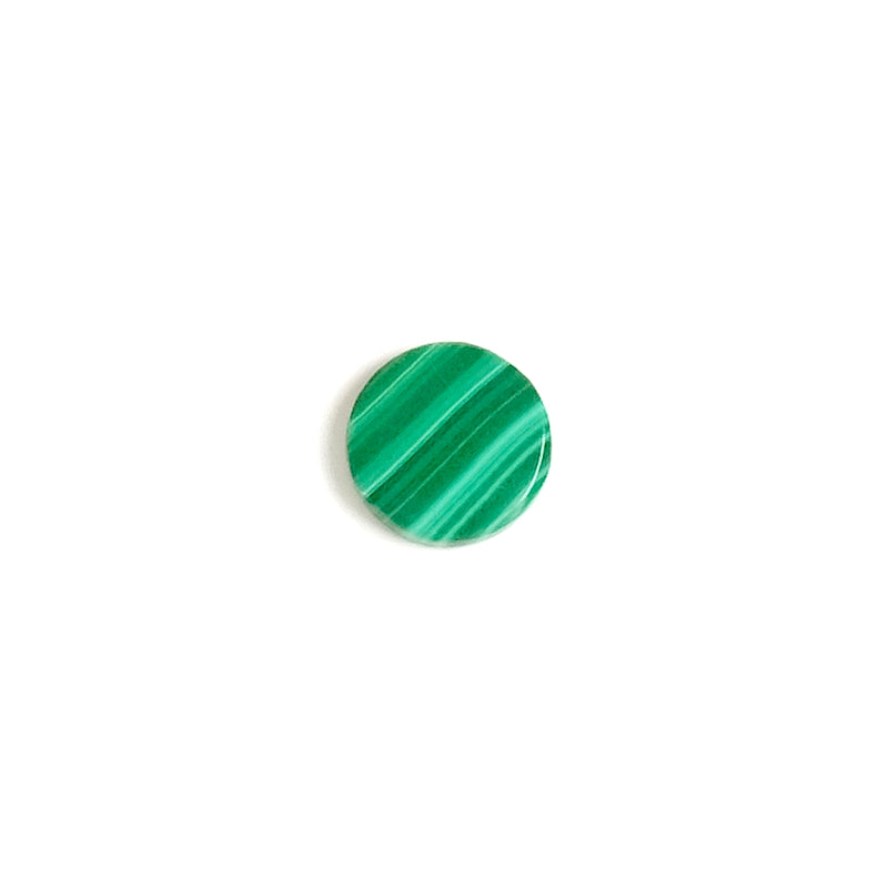Cabochon pierre naturelle plat 8mm Malachite