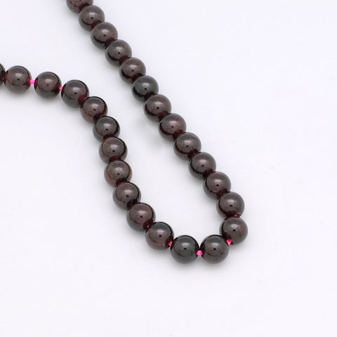 Lot de 15 perles rondes 6mm de Garnet naturelle