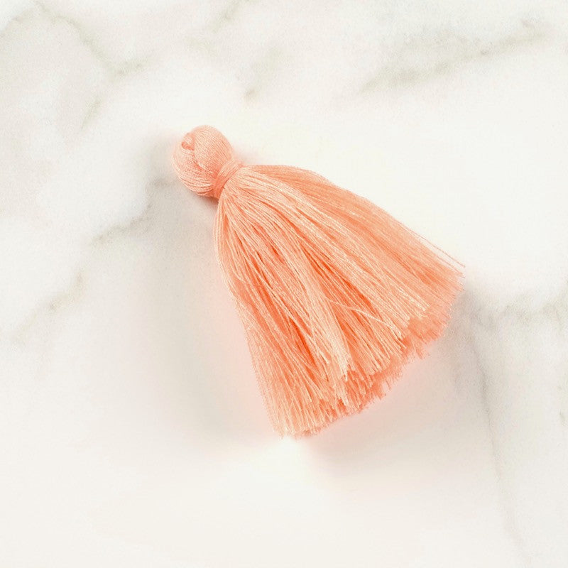 Lot de 2 Pompons XXL en coton 60mm Corail rose