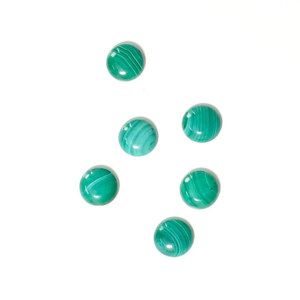 Cabochon pierre naturelle 8mm Malachite