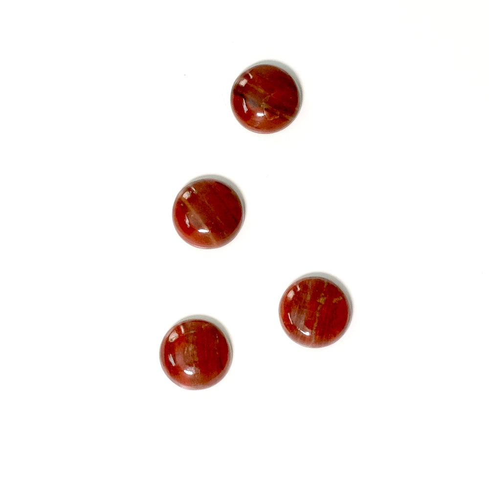 Cabochon pierre naturelle 8mm Jaspe Rouge