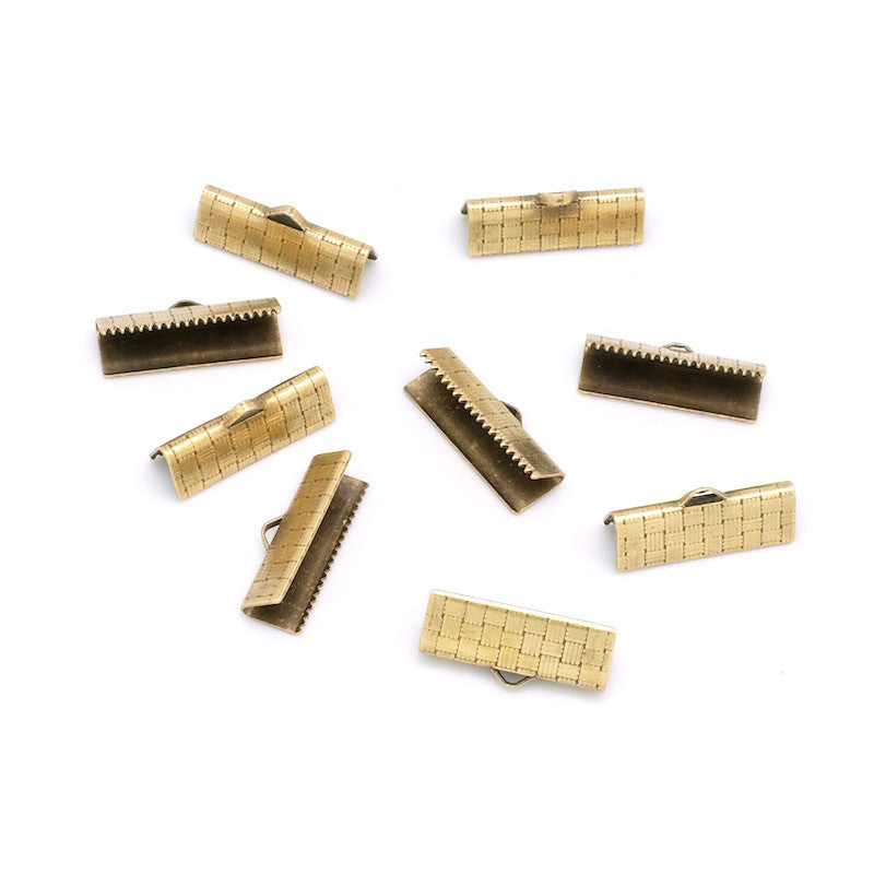 Lot de 10 embouts de ruban 19mm en laiton bronze