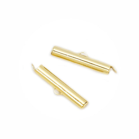 4 embouts tube cintre 26mm en Laiton doré à l'or fin 24K