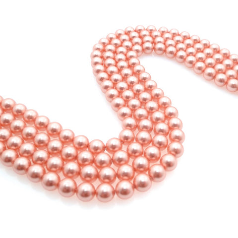 10 perles 6mm Swarovski Crystal Rose Peach Pearl