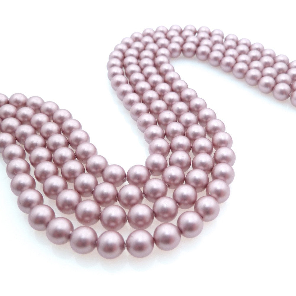 10 perles 6mm Swarovski Crystal Powder Rose Pearl