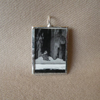 Ansel Adams photography, upcycled to hand-soldered glass pendant