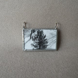 Ansel Adams photos, snowy scenes, upcycled to hand-soldered glass pendant