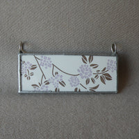 Birds on a wire, vintage illustration, up-cycled to soldered glass pendant