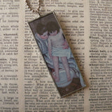 Mary Cassat, The Child's Bath, hand-soldered glass pendant