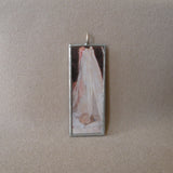 Berthe Morisot, The Cradle, French impressionist painting, upcycled to hand soldered glass pendant