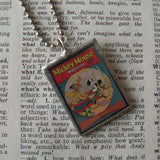 Mickey, vintage illustrations, up-cycled to soldered glass pendant