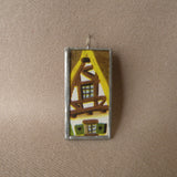 Dopey, vintage illustrations, up-cycled to soldered glass pendant
