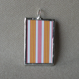 George Frederic Watts, Pre-Raphaelite paintings, upcycled to hand-soldered glass pendant