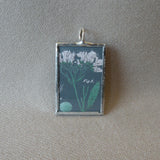 Foxglove and phlox, vintage botanical illustrations, hand-soldered glass pendant