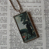 Henri Rousseau, The Snake Charmer, upcycled to hand soldered glass pendant