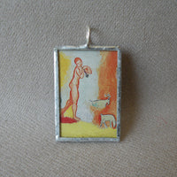 Henri Matisse, the Joy of Life, upcycled to soldered glass pendant