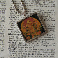 Buddha / Buddhist Art up-cycled into 2-sided, soldered glass pendant