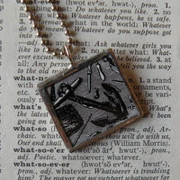 Anchors Aweigh! vintage illustration, up-cycled to soldered glass pendant