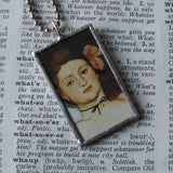 Olympia, Edouard Manet, French Impressionism, up-cycled to soldered glass pendant