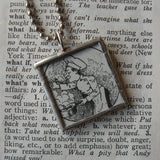 Little Chef, cooks, vintage children's book illustration upcycled to soldered glass pendant