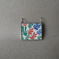 Henri Matisse, The Joy of Life, nude figures, upcycled to soldered glass pendant