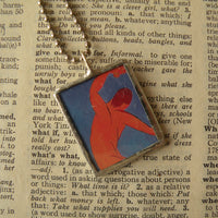 Henri Matisse, Dance, and female portrait, upcycled to soldered glass pendant
