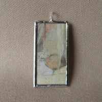 Berthe Morisot, The Cradle,  upcycled to soldered glass pendant
