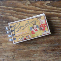 Vintage 1930s needle book cover up-cycled to wire-bound sketchbook / journal