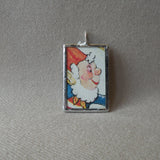 Noddy Elf, vintage children's book illustration, upcycled to soldered glass pendant
