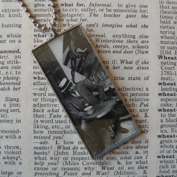 Vintage Parisian photos, antique Paris photography upcycled to hand-soldered glass pendant