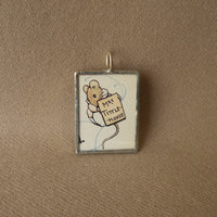 Mrs. Tittlemouse, original illustrations from vintage, children's classic book, up-cycled to soldered glass pendant