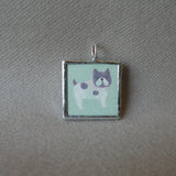 Pink poodle, French bulldog, Boston Terrier, Japanese kawaii illustrations up-cycled to hand-soldered glass pendant