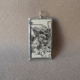 Roosevelt Bears, vintage children's book illustrations, up-cycled to soldered glass pendant