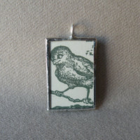 Stuart Little, original illustrations from vintage book, up-cycled to soldered glass pendant