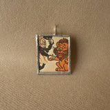 Wizard of Oz, original illustrations from vintage book, up-cycled to soldered glass pendant