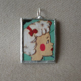 Art Deco women, vintage illustrations up-cycled to soldered glass pendant