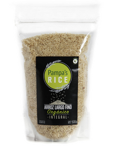 Arroz largo fino integral orgánico - Pampa's Rice 500gr
