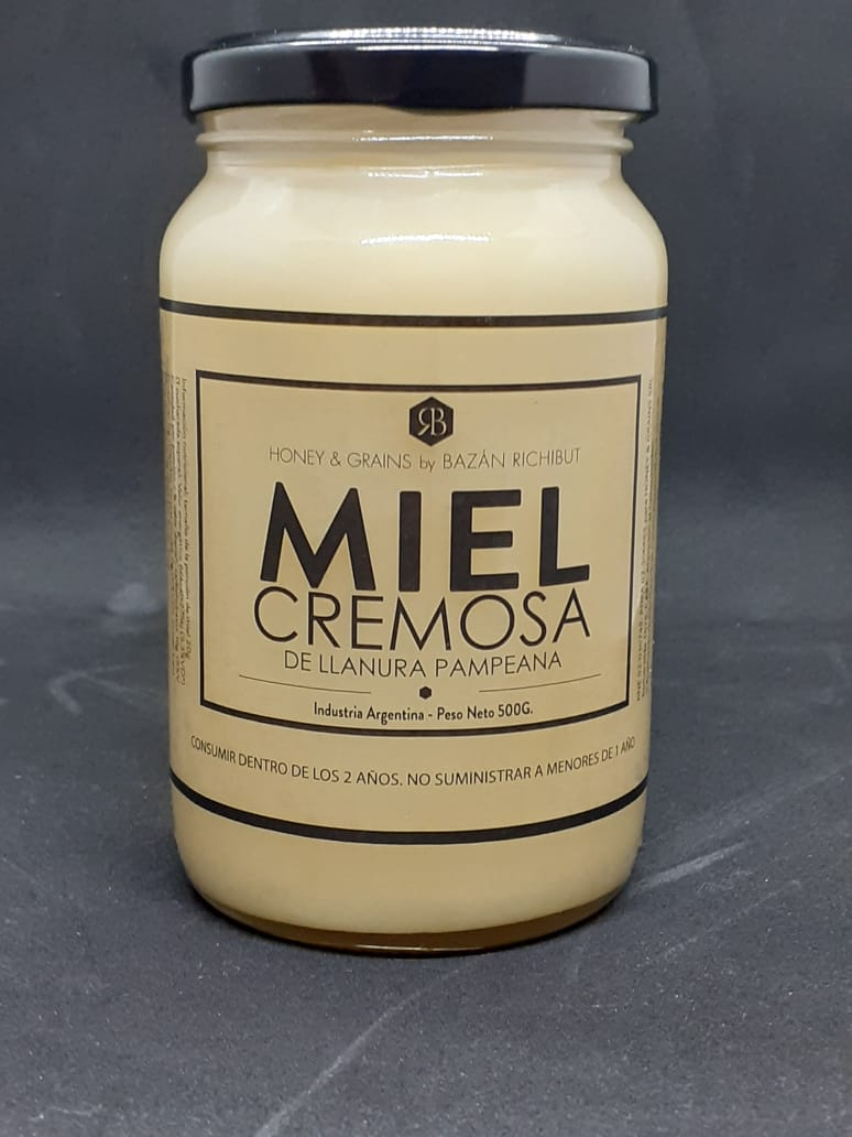 Miel pura cremosa Honey&Grains - 500ml