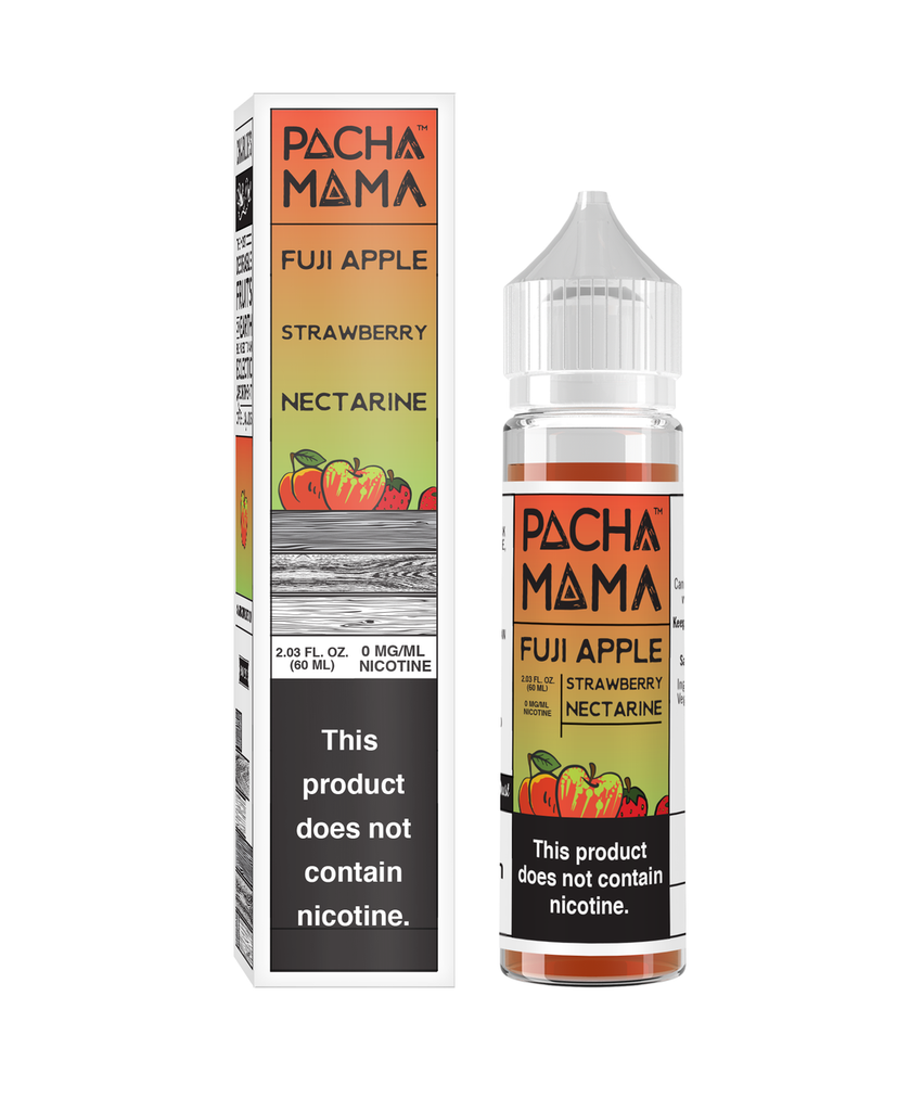 Pachamama - Fuji Apple, Strawberry, Nectarine 60ml 0mg