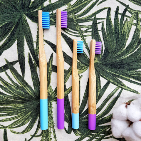 [Bundle] Family Set - 4 Bamboo Toothbrushes (Save 15%!)