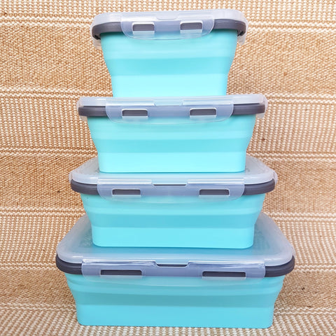 Set of 4 Silicone Collapsible Containers