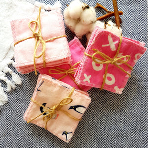 Reusable Cotton Squares (Pinks) (Pack of 10)
