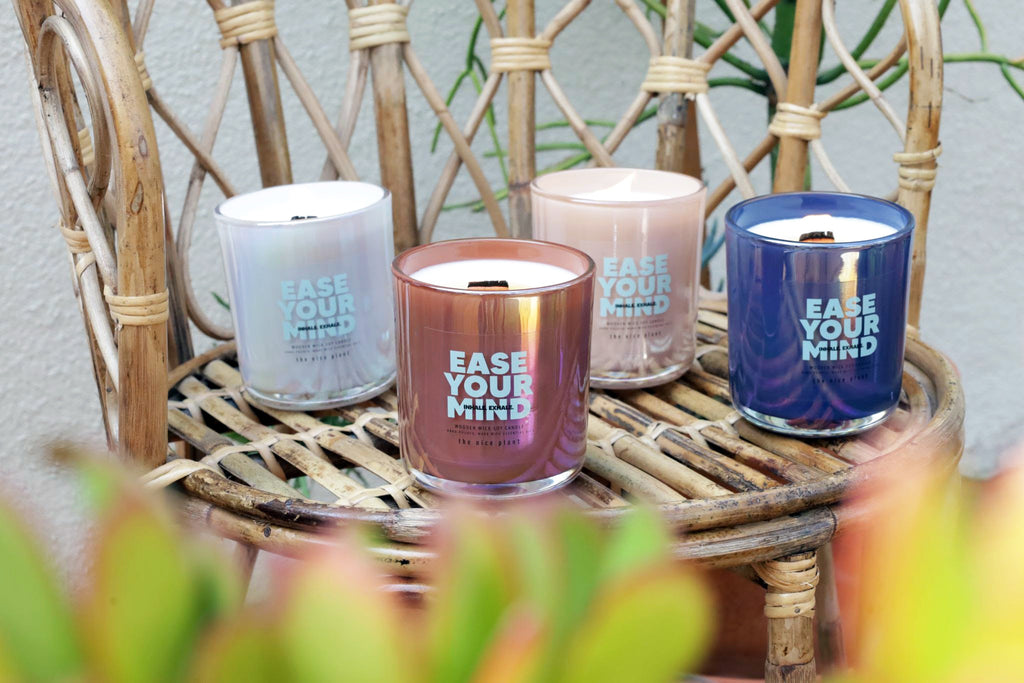 all natural soy wooden wick candle, black owned candle company