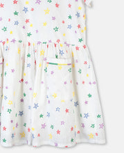 Load image into Gallery viewer, Stella McCartney Stars Embroidery Cotton Dress