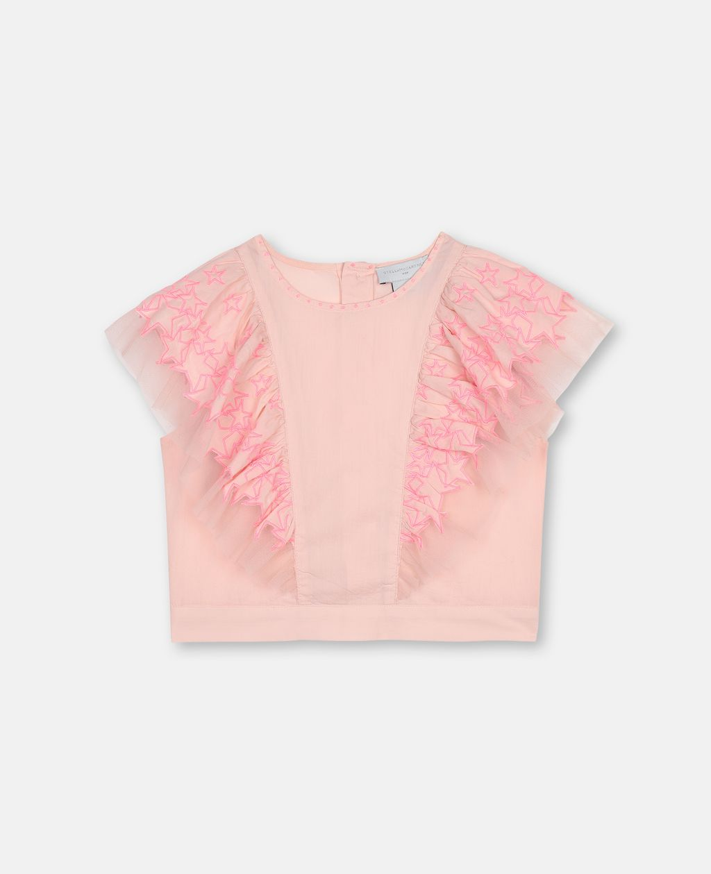 Stella McCartney Stars Embroidery Cotton Crop Top