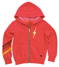 Load image into Gallery viewer, Bolt Stitch Chevron Zip Hoodie