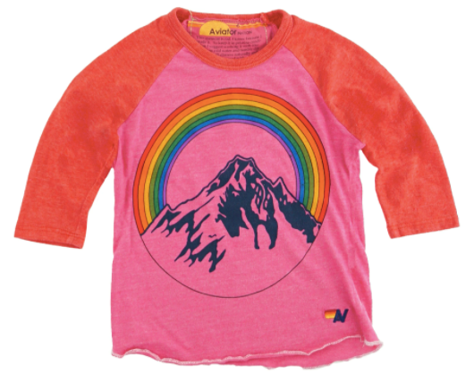 Mountain Rainbow Baseball Tee