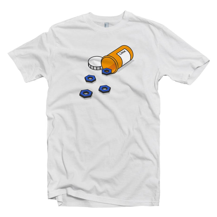 Addicted to Chainlink, LINK Crypto Medicine T-shirt