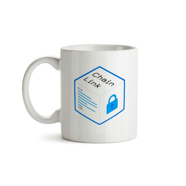 Old Chainlink LINK Cryptocurrency Logo Mug