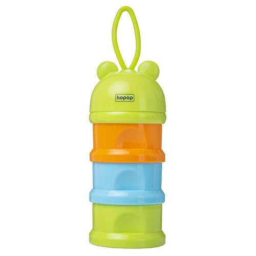 Multi Functional Milk Powder Container Multicolor (Green) - hopopindia